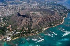 Diamond Head in Hawaii provided a very impressive view of the island.