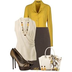 A fashion look from January 2014 featuring brown jacket, women skirts y platform shoes. Browse and shop related looks.