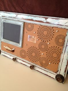 Large Reclaimed Cabinet Door Memo Board, One Of A Kind