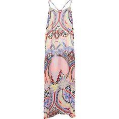 Light pink tribal print maxi dress £25.00