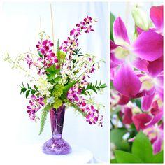 Llena de color la vida de esa persona especial en tu vida con ese arreglo de orquídeas en florero de cristal.  Regala flores y dale color y aroma a ese encuentro.  -55401723 -55204323   *entregas en todo el D.F.