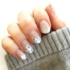 15 best new years eve nail art ideas - nail designs for a new years manicure Nail Art Designs, Silver Nail Designs, Pretty Nail Designs, Short Nail Designs, Nails Design, Glitter Manicure, Glittery Nails, Silver Nails, New Year's Nails