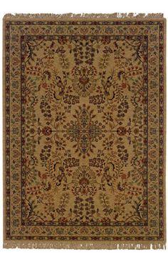 Luxor Kingdom Traditional Wool Beige Rug