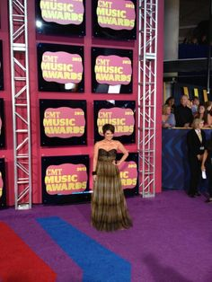 CMT's radio personality, Sam Stephens, looking good on the Red Carpet! #CMTawards