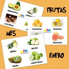 Recursos para el aula: Bits de frutas del mes de Enero