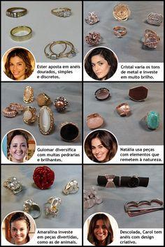 """Anéis das personagens de """"Flor do Caribe"""". http://glo.bo/1vSHNAF"""