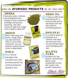 ayurvedic products  http://blackform.wordpress.com/2008/07/30/indian-or-ayurveda-hair-care/