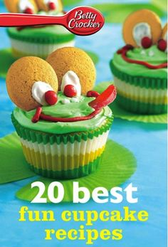 Bargain e-Cookbook: 20 Betty Crocker Best Fun Cupcake Recipes {99 cents!} #cupcakes #cupcakes #cupcakeideas #cupcakerecipes #food #yummy #sweet #delicious #cupcake