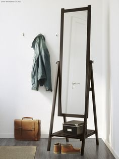 IKEA – ISFJORDEN standing mirror stained black-brown Source by ikeacanada