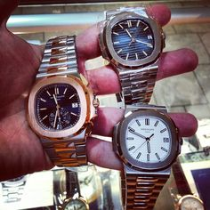 Mirror mirror on the wall , I am the one who got them all. #patekphilippe #nautilus #5711 #5980