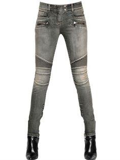 Balmain - Stretch Cotton Denim Jeans