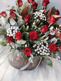 Rustic Valentines Day Red Roses Simply Beautiful, Red Roses, Floral Arrangements, Christmas Wreaths, Valentines Day, Birthdays, Anniversary, Rustic, Holiday Decor