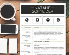 Resume Template and Cover Letter  CV Template for by SuccessTools