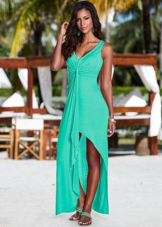Style #Y58359  $29 This style flaunts drapery like no other! Knot front dress in the VENUS Line of Dresses for Women.   Found on the Gran http://www.pricegrabber.com/clothing/womens-dresses/p-807/  *Where You Can Compare Fashion Shopping Prices