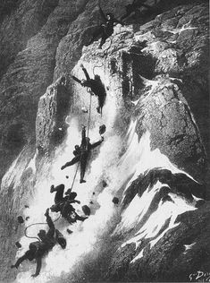Disaster strikes just after the first ascent of the Matterhorn