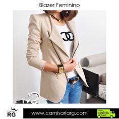 Blazer Feminino. Confira esse e outros modelos em Promoção!  www.camisariarg.com blazer-feminino-branco-41.html 6b483cbc681ec