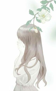 Girl with nature, art Amazing Drawings, Cute Drawings, Aesthetic Art, Aesthetic Anime, Cover Wattpad, Wallpaper Fofos, Fanarts Anime, Korean Art, Anime Scenery