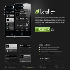 Dark Mobile App Website PSD Template
