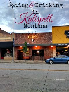 Shereen Travels Cheap: Eating & Drinking in Kalispell, Montana Come visit our Kalispell location when you checkout downtown Kalispell Montana Living, Montana Homes, Montana Ranch, Flathead Lake Montana, Glacier National Park Montana, Glacier Park, Glacier Montana, Kalispell Mt, Places