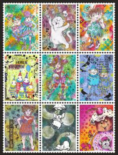 Postzegels digitale stemels Rick St. Dennis