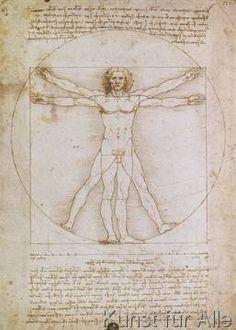 Leonardo da Vinci - Proporzioni dell'uomo secondo