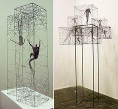 Barbara Licha's wire sculptures