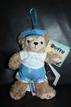 NEW Rare Disney Aulani Duffy Bear Plush Ornament Hawaii Exclusive Aloha Bear