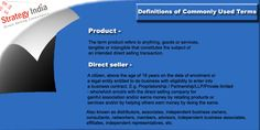 Click to know authenticate definitions of product and #directseller from trusted direct selling consultant Strategy India.