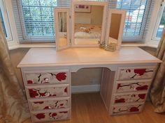 Inspiration | docrafts.com: I could make a mirror for my vanity with three picture frames.