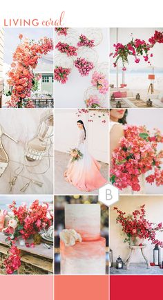 wedding Living Coral: Wedding Ideas Inspired by Pantone's Colour of the Year 2019 , … - Hochzeitsideen Türkis Vintage Wedding Colors, Summer Wedding Colors, Wedding Coral, Vintage Weddings, Spring Wedding, Wedding Trends, Trendy Wedding, Wedding Ideas, Perfect Wedding