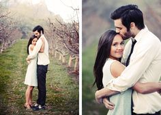vintage vineyard engagement session. Photo by Gideon Photography.