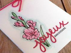 Vraiment original!   J'adore les cartes avec un halo autour de l'image. Mais ça m'a pris quelques essais avant d'atteindre un résultat que j'aimais. Et quoi de m... par Nancy Gauthier, démonstratrice Stampin' Up!