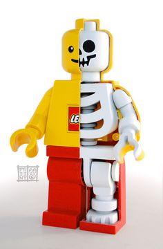 Lego Skeleton Mini Figure Sculpt by Jason Freeny