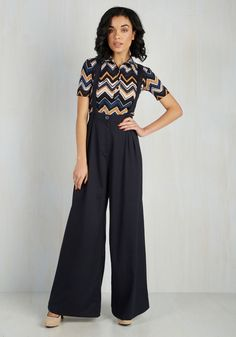 Conference Room Coffee Pants in Navy. Youve got your laptop and a mug of coffee - time to strut these button-suspendered trousers over to the conference room! #black #modcloth
