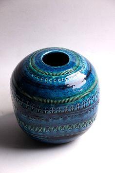 Hmmm. . .this geometric on a totem sphere? Vintage Bitossi Globe Vase