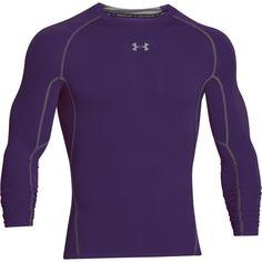 Under Armour Men's Purple HeatGear Armour L/S Compression Shirt