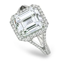emerald cut diamond | Emerald Cut Diamond Engagement Ring in Singapore For Brilliant ...
