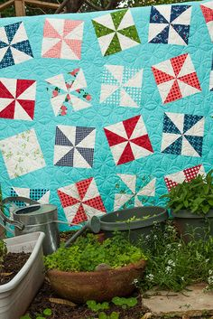 Shuffle quilt pattern by Lella Boutique. Make it using 2 charm packs. Gooseberry fabric by Vanessa Goertzen of Lella Boutique for Moda. Ships to stores October 2015.