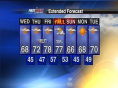 Sept. 18: 7-day forecast