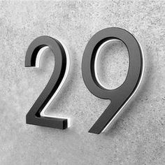 Illuminated House Numbers, Led House Numbers, Illuminated Signs, Backlit Signage, Led Logo, Signage Design, Menu Design, 3d Design, Wall Design