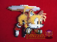 Tails the Fox perler beads by Pixel Pandora