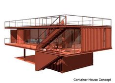 "The Rammed Earth Shipping Container ""Quik House"" by Adam Kalkin is a further evolution of Cargo Architecture and Shipping Container Homes Building A Container Home, Storage Container Homes, Container Buildings, Container Architecture, Container House Plans, Container House Design, Cargo Container, Container Cabin, Architecture Design"
