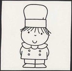 wat wij later worden [p. 21, kokkin] | Centraal Museum Utrecht Miffy, Utrecht, Charlie Brown, Bakery, Restaurant, Illustration, Character, Nostalgia, Illustrations
