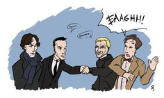 The 50 Best, Worst, And Weirdest Examples Of Doctor Who/Sherlock Crossover Fan Art (Jim and The Master met each other... We're f***ing screwed.)