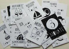 Weiteres - Baby Meilenstein Karten - ein Designerstück von mitherzlichemgruss bei DaWanda