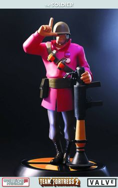 whoa! This is awesome! Team Fortress 2 RED Soldier statue