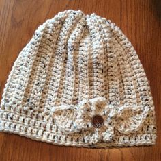 Lady's winter hat hand crochet snow hat by Yarnhotoffthehook Crochet Flower Hat, Flower Hats, Crochet Towel, Hand Crochet, Free Crochet, Crochet Pattern, Shark Hat, Snow Hat, Knitted Hats