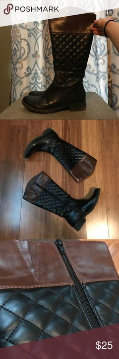 Black & Brown Boots Kohl's Boots Great condition  Make an offer Kohl's Shoes Winter & Rain Boots