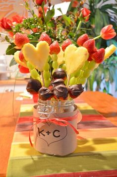 Fruit bouquet for Valentine's Day.
