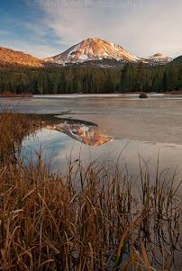 THis past weekend was the best of weather it was the worst of weather.  Crazy.   This is an older shot for  #mountainmonday  This is Lassen a couple weeks ago as we returned from our  shooting in the SW.  We stopped here on our last night before we went home....I liked the golden tones....and ice.   Lassen is probably my favorite place to shoot in the area...and I don't get here entirely enough.  More photos from Brian Rueb